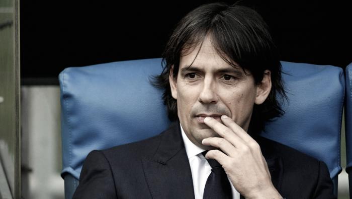 """Simone Inzaghi lamenta expulsão de jogador da Lazio no Derby e afirma: """"Problema foi o árbitro"""""""