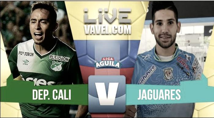 Resultado Deportivo Cali vs. Jaguares por la Liga Águila (1-1)