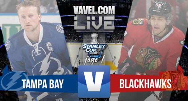 Resultado Tampa Bay Lightning x Chicago Blackhawks, pelo jogo 1 da Final da Stanley Cup (1-2)
