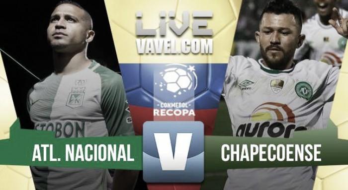 Resultado y goles Atlético Nacional 4-1 Chapecoense en final Recopa Sudamericana 2017