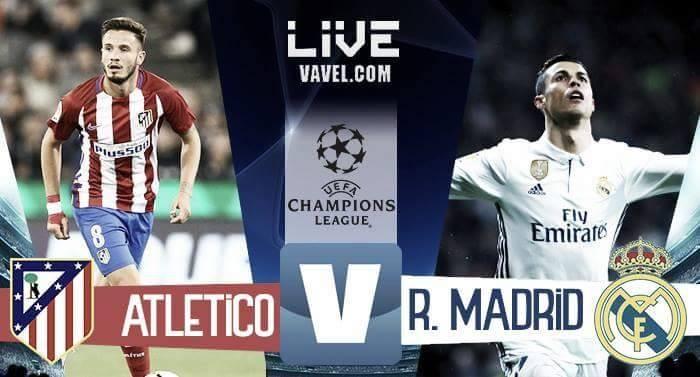 Terminata Atlético Madrid-Real Madrid in Champions League 2016/17 (2-1): Blancos in finale con la Juve!