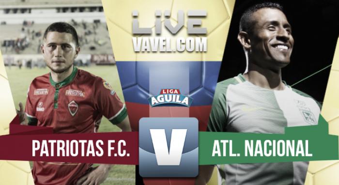 Patriotas vs Atlético Nacional en vivo y en directo online por la Liga Águila 2017-I (0-1): El triunfo del récord