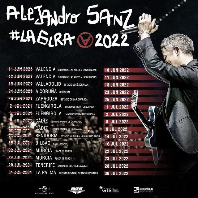 Alejandro Sanz vuelve a los escenarios españoles en 2022