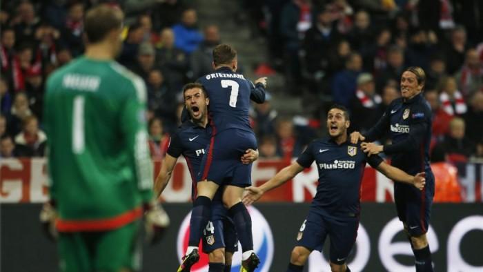 Griezmann et l'Atlético font tomber le Bayern
