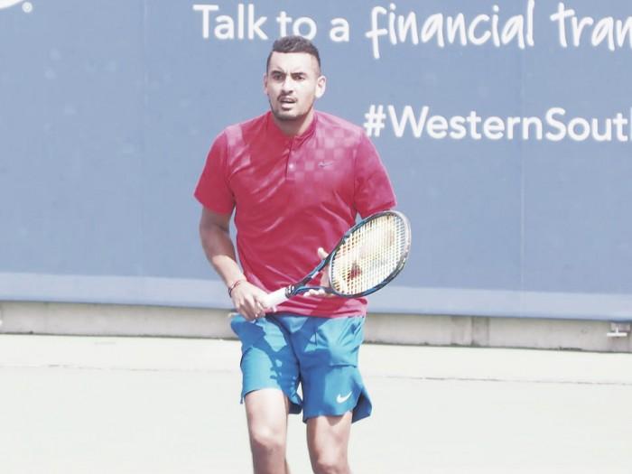 ATP Cincinnati: Nick Kyrgios defeats an injury stricken David Goffin in straight sets