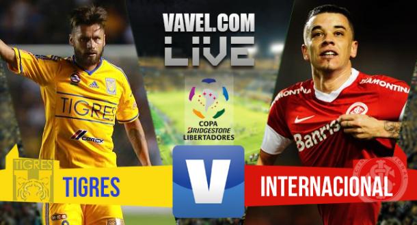 Resultado Tigres x Inter na Copa Libertadores 2015 (3-1)