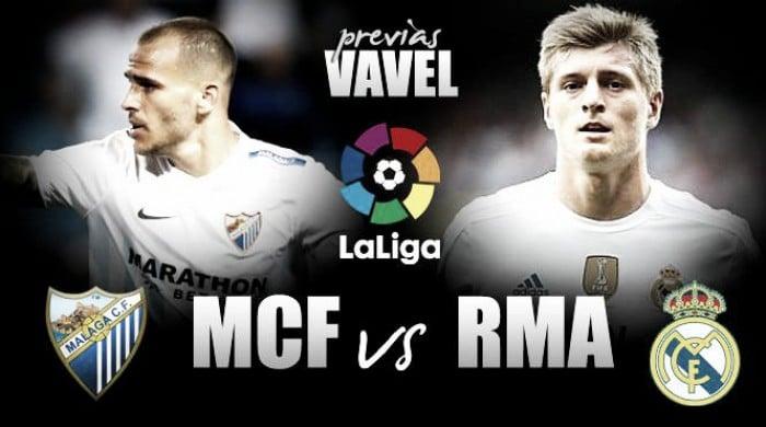 Previa Málaga - Real Madrid: último pasito por la Liga