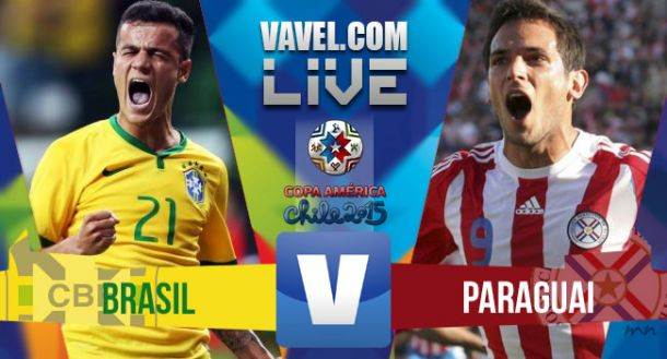 Resultado de Brasil x Paraguai pela Copa América 2015 (1(3)-1(4))