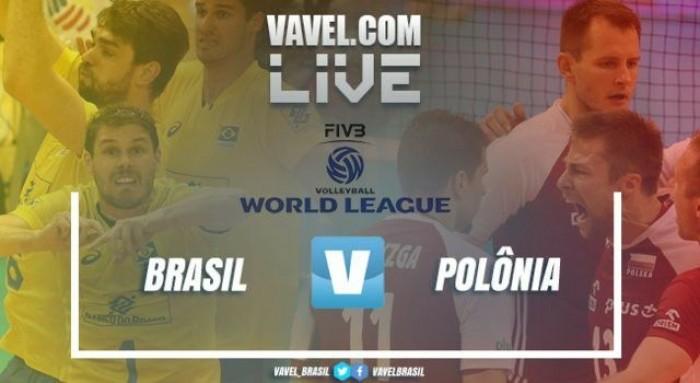 Resultado Brasil x Polônia pela Liga Mundial de Vôlei Masculino (3-1)