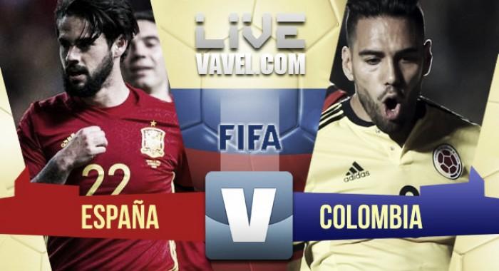 España y Colombia lograron un emocionante empate (2-2)