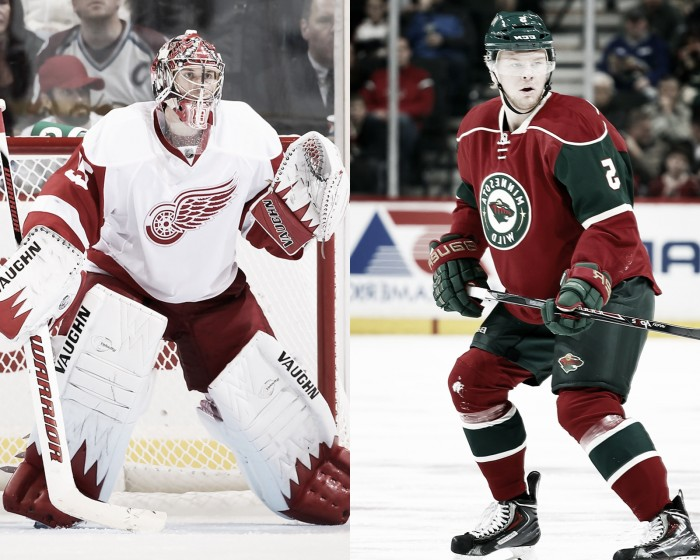 Los Red Wings pierden a Howard una semana, Frolin un mes de baja para Minnesota