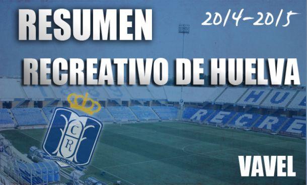 Resumen temporada 2014/2015 del Recreativo de Huelva: vuelta al infierno