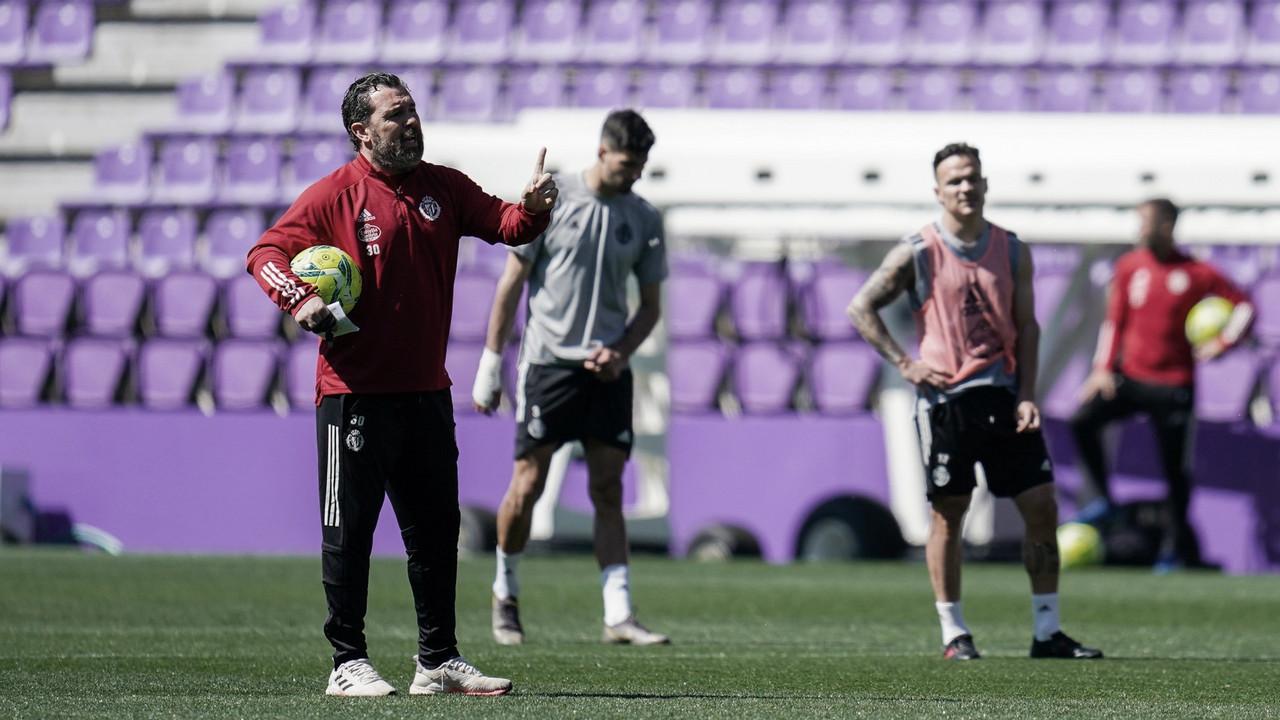 """Sergio: """"La responsabilidad de ser futbolista y defender los colores del Real Valladolid"""""""