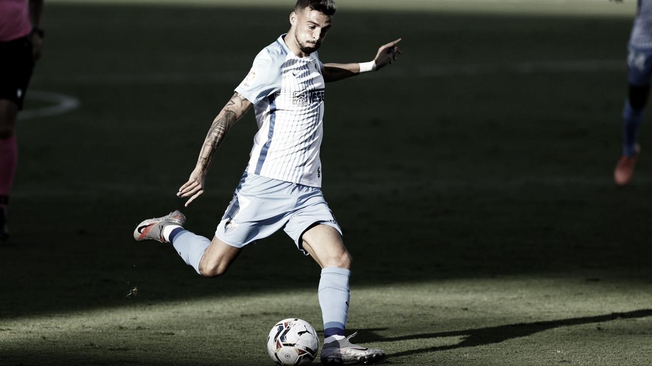 Cristian Rodríguez durante el partido Málaga CF - AD Alcorcón. / Foto: Málaga CF