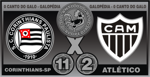 Corinthians é dono da maior goleada contra o Atlético-MG: 11 a 2; conheça