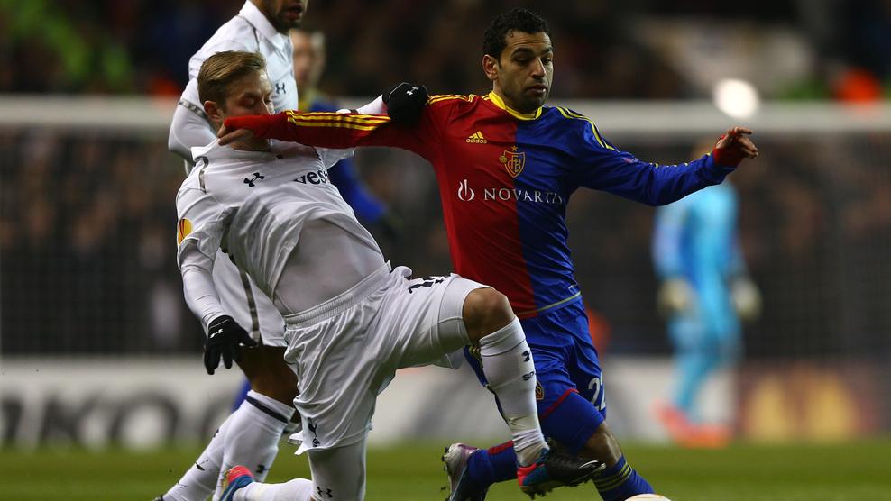 Tottenham reage e consegue empate contra o Basel na Liga Europa