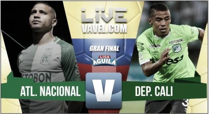 Resultado Atlético Nacional vs Deportivo Cali Final Liga Águila 2017 (5-1)