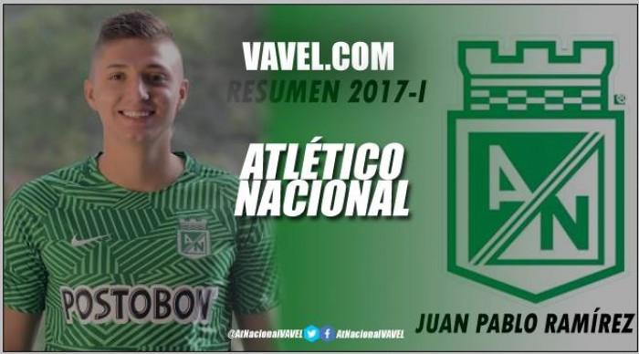 Resumen Atlético Nacional 2017-I: Juan Pablo Ramírez, dura adaptación pero buena proyección