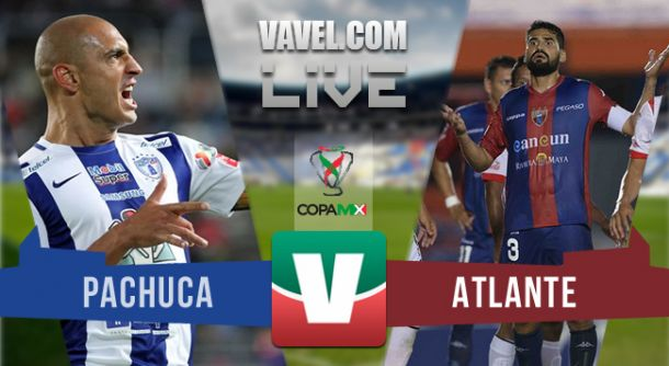 Resultado Pachuca - Atlante en Copa MX 2015 (1-1)