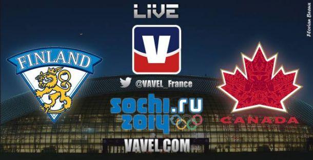 Live : Suivez en direct le match de hockey sur glace Finlande-Canada