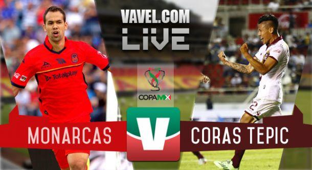 Resultado Monarcas Morelia - Coras FC en Copa MX 2015 (1-0)