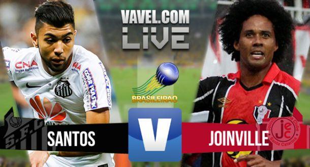 Resultado Santos x Joinville no Campeonato Brasileiro (2-0)
