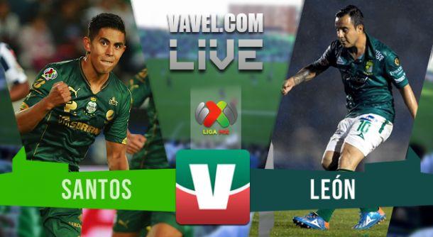Resultado Santos - León en Liga MX Apertura 2015 (1-3)