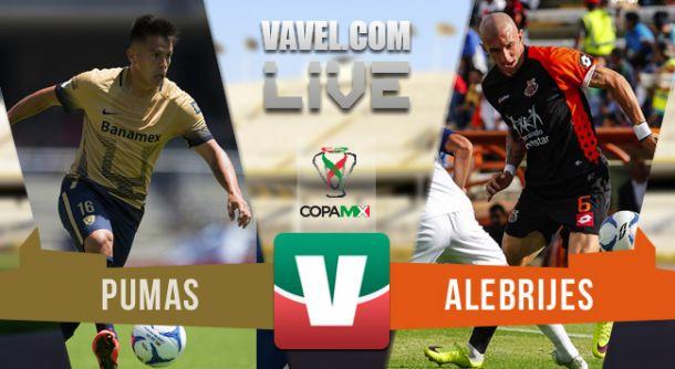Resultado Pumas - Alebrijes en Copa MX 2015 (1-2)