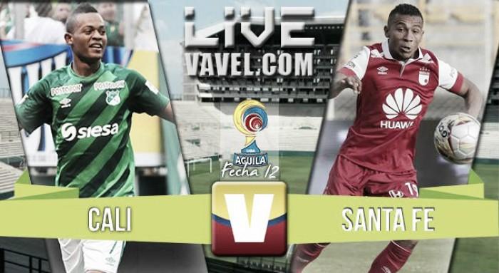 Resumen Deportivo Cali 3-4 Santa Fe en la Liga Águila
