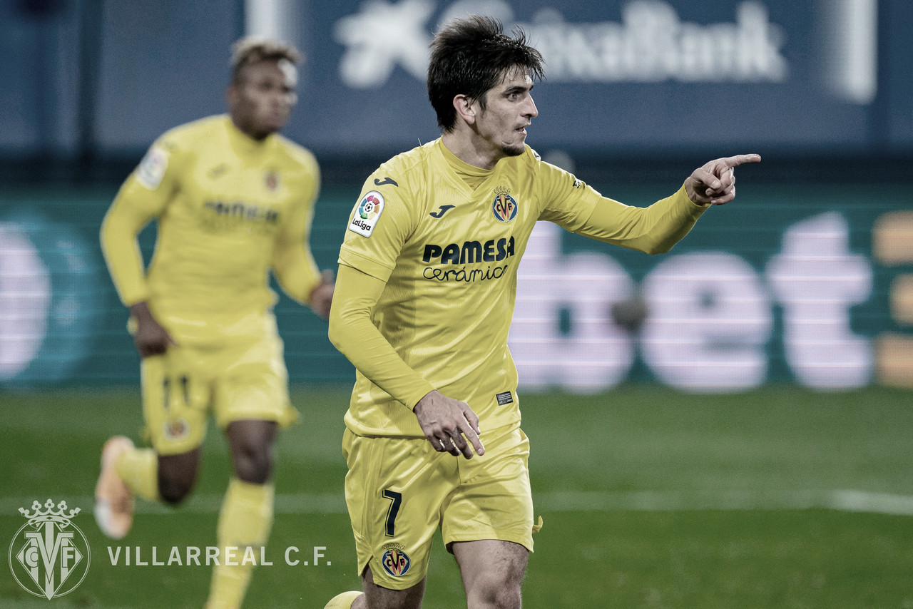 Gerard Moreno en la celebración de un gol. | Imagen: villarrealcf.es
