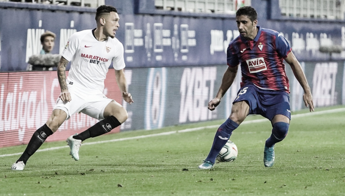 Lucas Ocampos y Cote. | Imagen: @SevillaFC