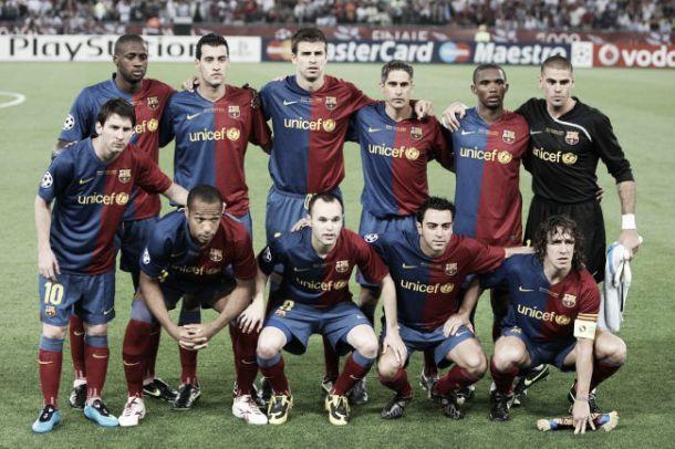 Resultado de imagen para fc barcelona triplete 2009 pique