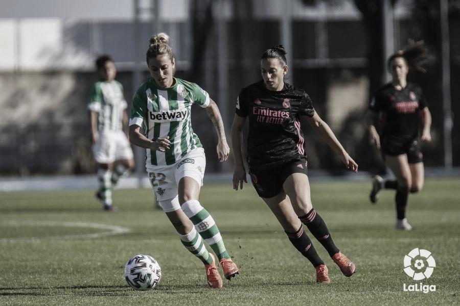 Ángela Sosa, la más incisiva de las verdiblancas. Fuente: La Liga.