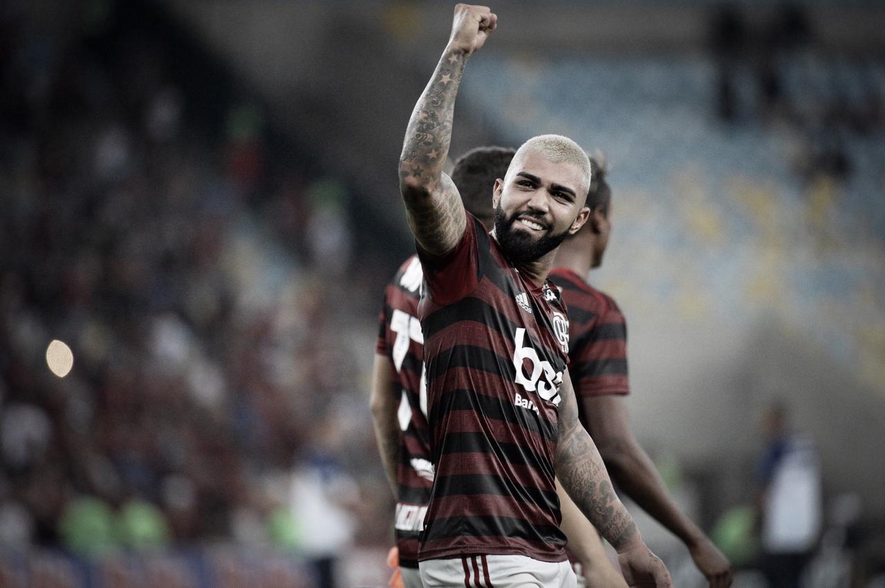 """Gabigol comemora triunfo do Flamengo e frisa: """"Meu gol mais importante aqui"""""""