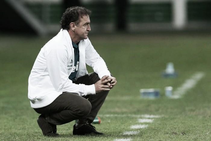 """Cuca vê Palmeiras sólido após vencer segunda partida seguida: """"A gente está evoluindo"""""""