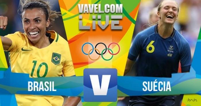 Resultado Brasil (3) x Suécia (4) no futebol feminino da Rio 16 (0-0)