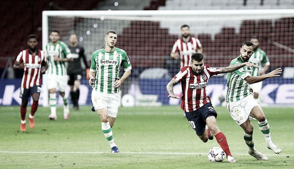 Real Betis vs Atlético de Madrid EN VIVO y en directo online en Laliga Santander 2021 (1-1)