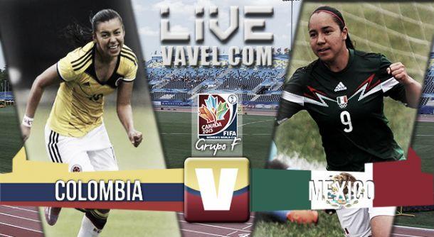 Resultado Colombia - México en el Mundial Femenino Canadá 2015 (1-1)