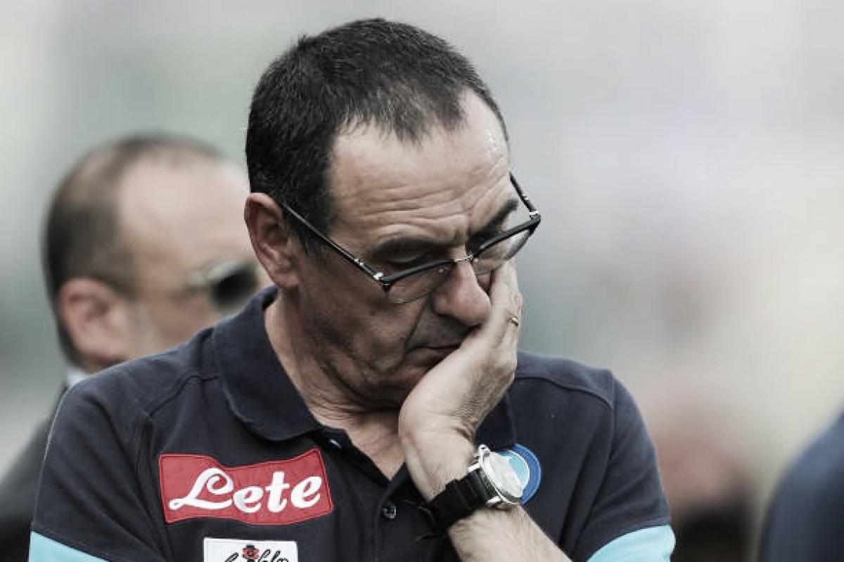 """Sarri admite má atuação do Napoli com um a menos: """"Perdemos nossas certezas táticas"""""""