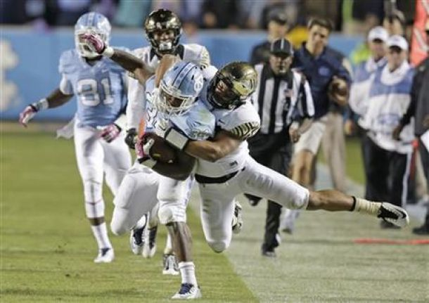 Wake Forest Demon Deacons Struggles On The Road; Loses To North Carolina Tar Heels 50-14