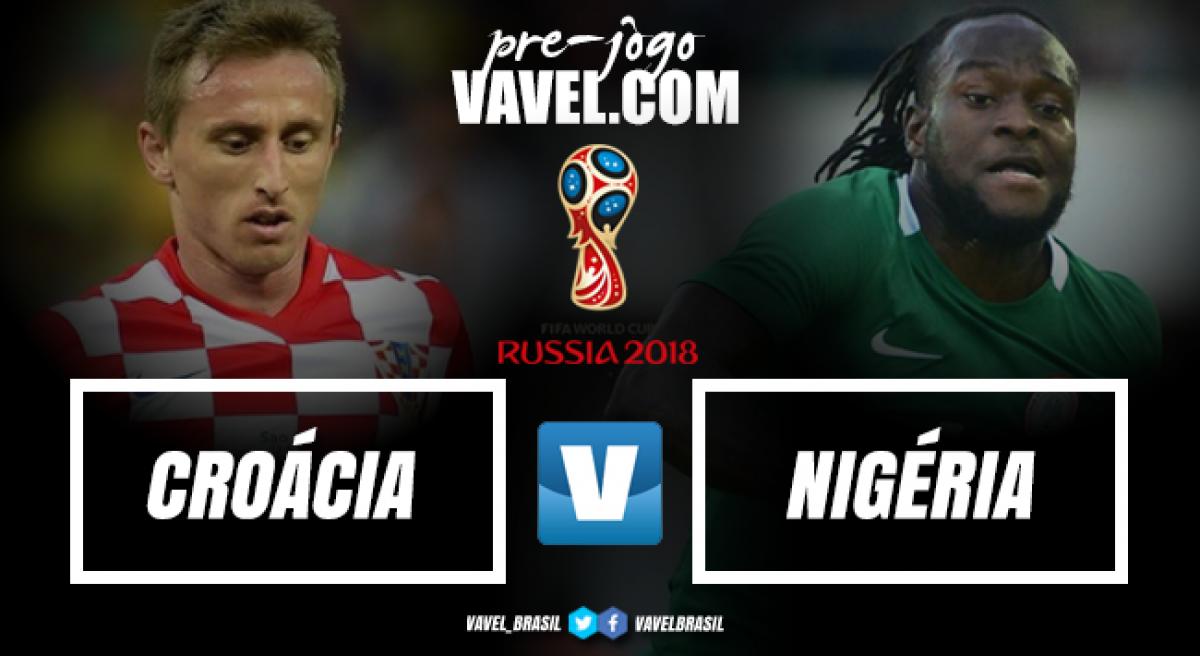 Com propostas ofensivas, Croácia e Nigéria medem forças em duelo inédito na Copa do Mundo