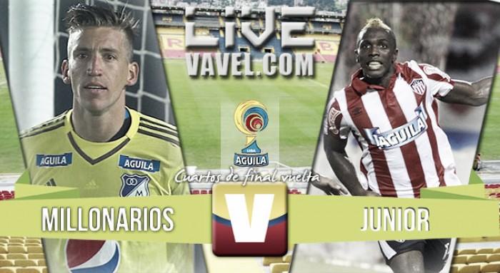 Resultado: Millonarios - Junior por Liga Águila (4-2), Penales (2-4)