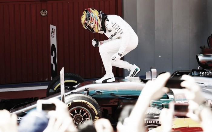 Hamilton ganó en Barcelona