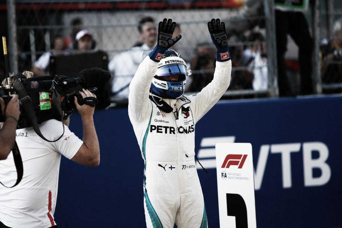 Bottas consiguió la pole en Sochi