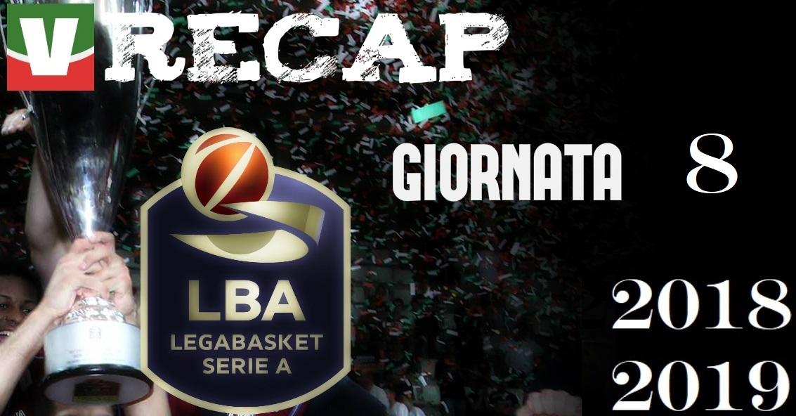 Legabasket, risultati e tabellini dell'ottava giornata