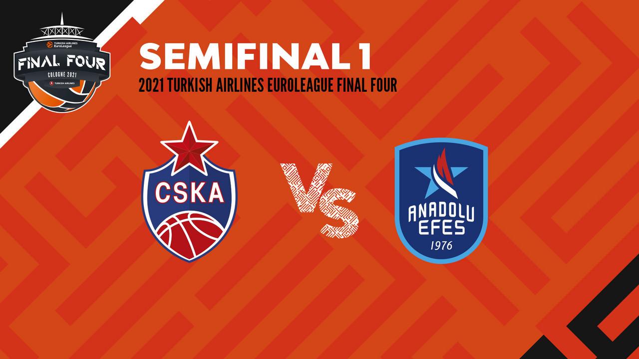 L'Efes è la prima finalista. CSKA battuto 89-86