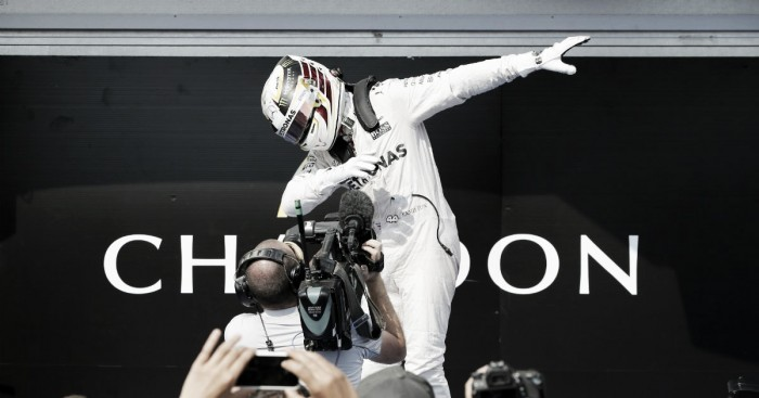 Hamilton ganó en Hungría