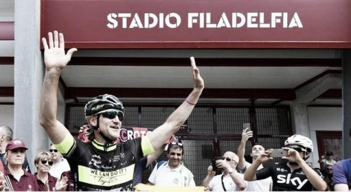 """Crotone - Nicola: """"Il viaggio in bici? Prima un gioco, poi una favola"""""""