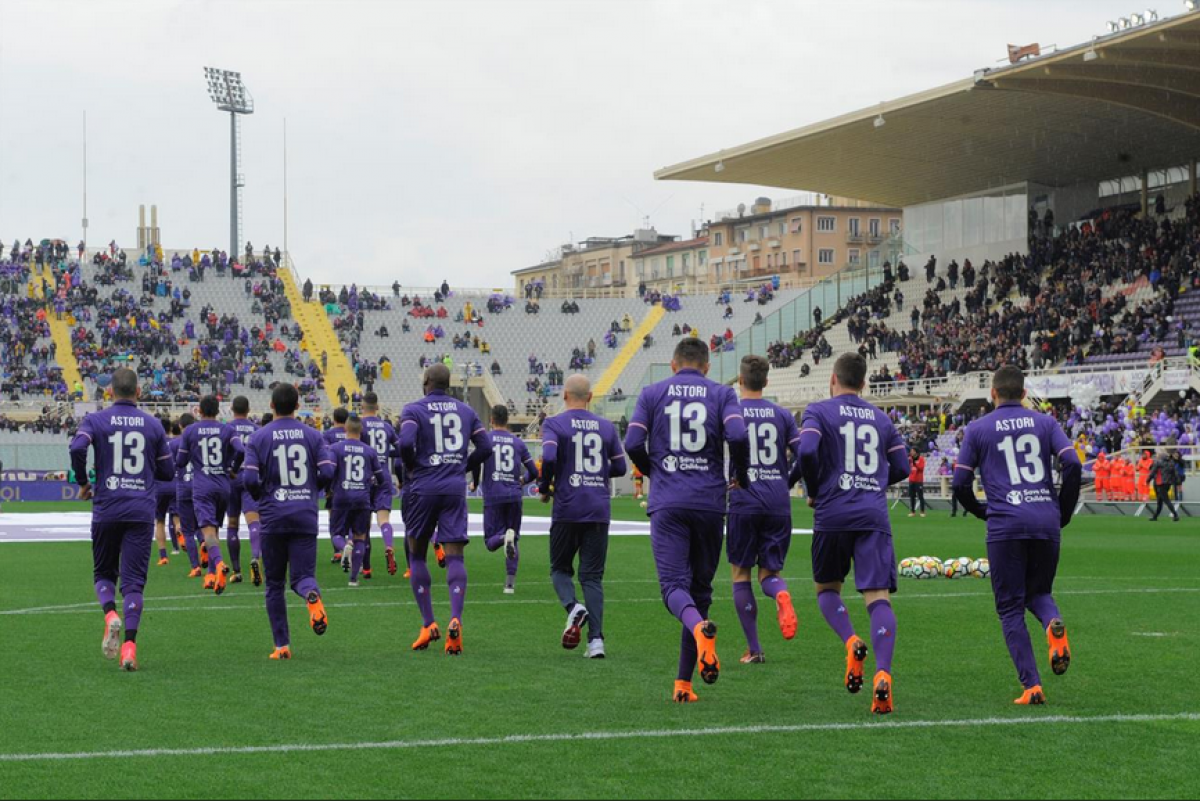 Serie A - Vince la Fiorentina nel ricordo di Astori, 1-0 al Benevento