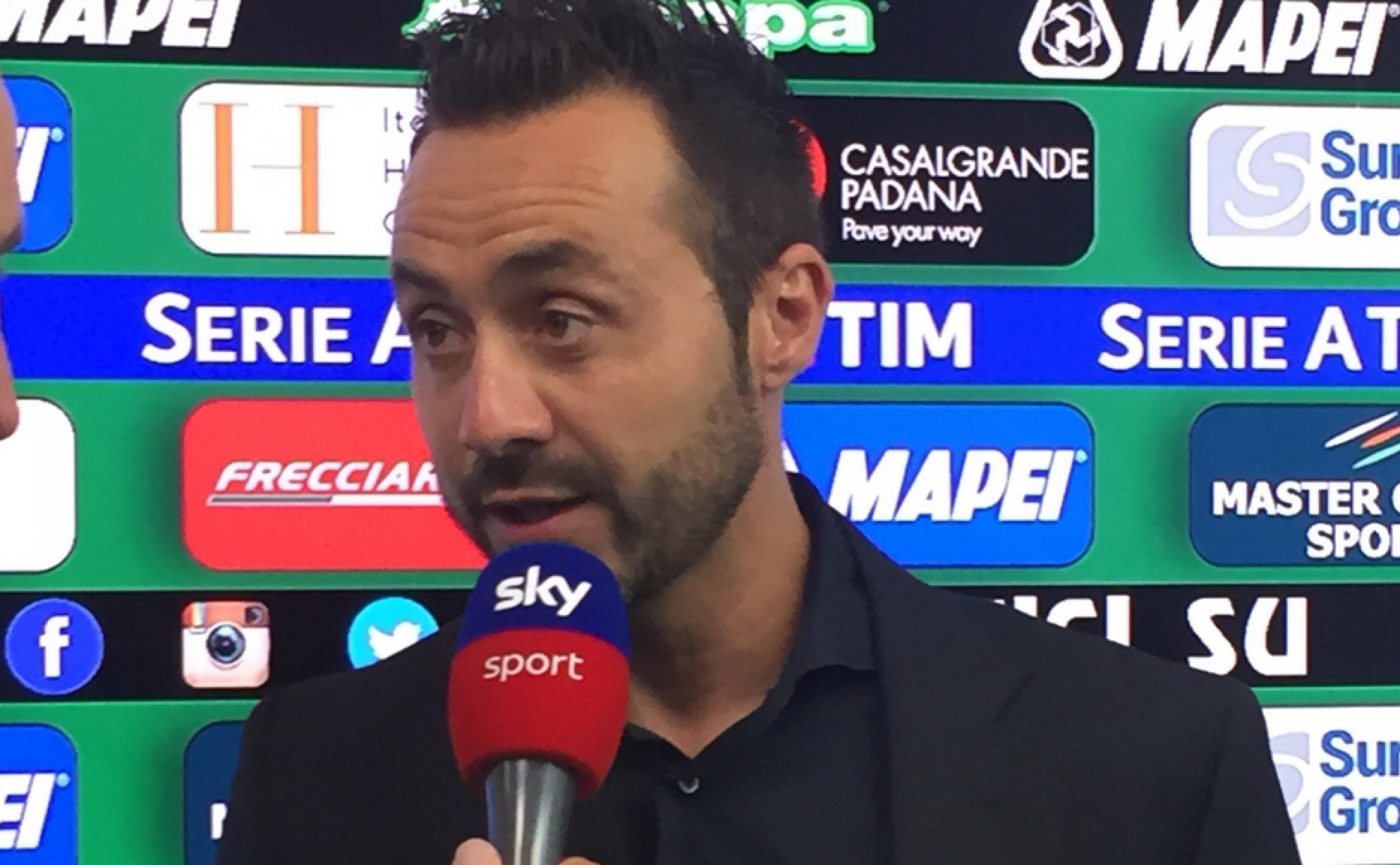 """Sassuolo, De Zerbi dopo il KO con la Juve: """"Sono soddisfatto, dà fastidio perdere"""""""